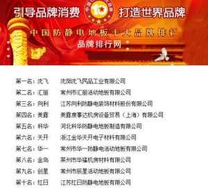 """""""2018年度中国防静电地板十大品牌总评榜""""荣耀揭晓洪湖"""